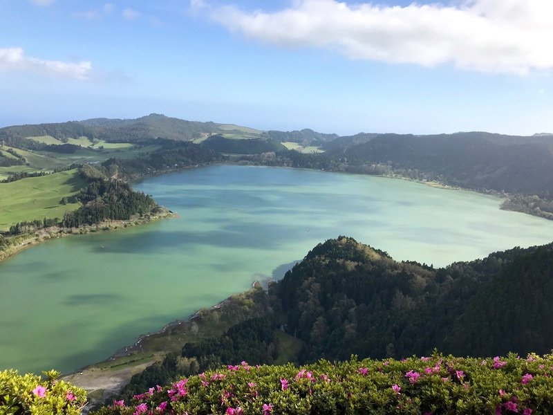 The island of Sao Miguel Azores is dotted with beautiful lakes that are a must-see on any Azores itinerary