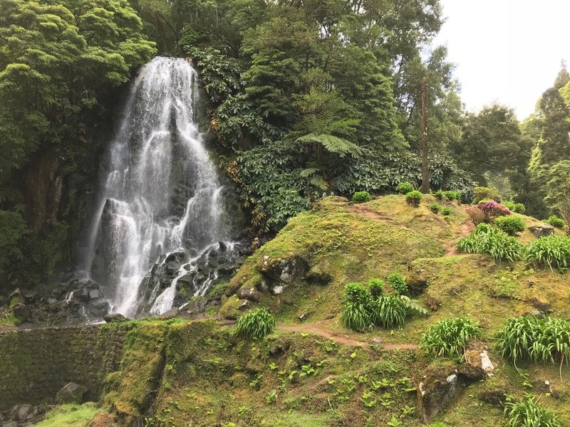 Hike or go canyoning past waterfalls at Ribeira dos Caldeiroes National Park on Sao Miguel in the Azores