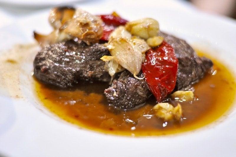 Bife à Regionala comes in a 12 ounce size at Alcides restaurant in Ponta Delgada Azores