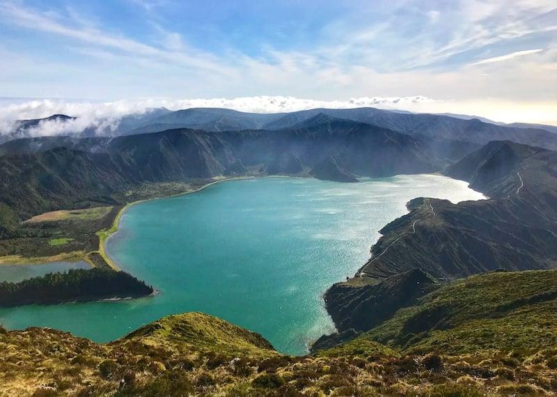 Lagoa do Fogo caldera on sao miguel Island