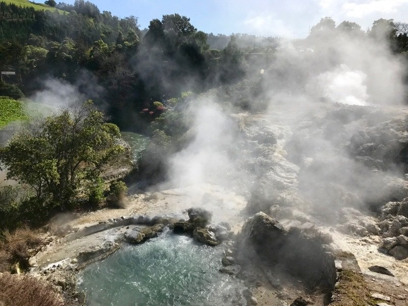 Walk through one of the most signifiant geological sites in the Azores in the Furnas Valley