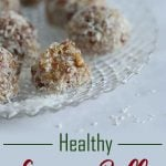 This easy no-bake recipe for Healthy Recipe Balls is packed with delicious goodness including essential minerals and features dates, tahini and coconut. Whip up a batch for a source of energy for the whole week #vegan #holiday
