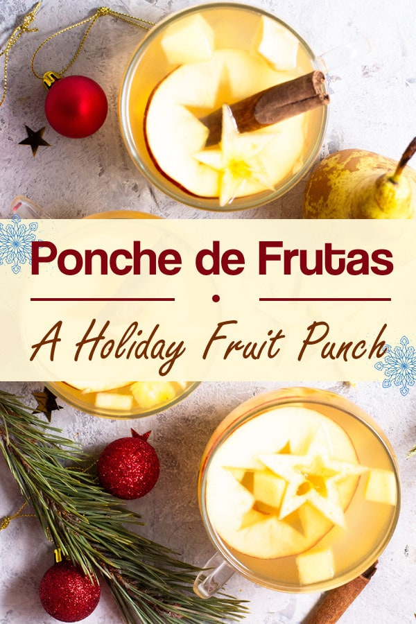 An easy recipe for ponche de frutas, a traditional hot fruit punch served at Christmas and New Year's in Guatemala, Mexico and Central America. #holiday #healthy #Navidad #Christmas