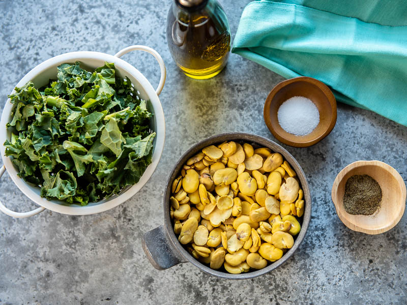 Ingredients for Fava Bean Puree
