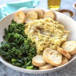 Pure di fave e cicorie is a vegan and heart-healthy side dish of dried fava beans