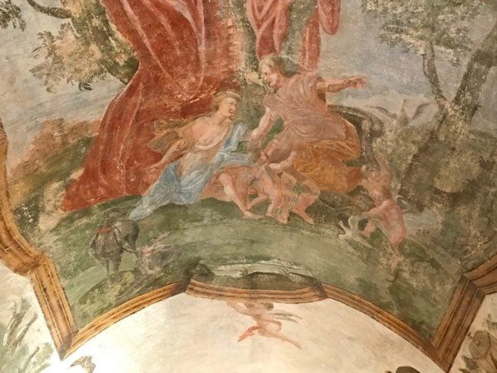 Fresco at Palazzo Marchesale in Matino Puglia