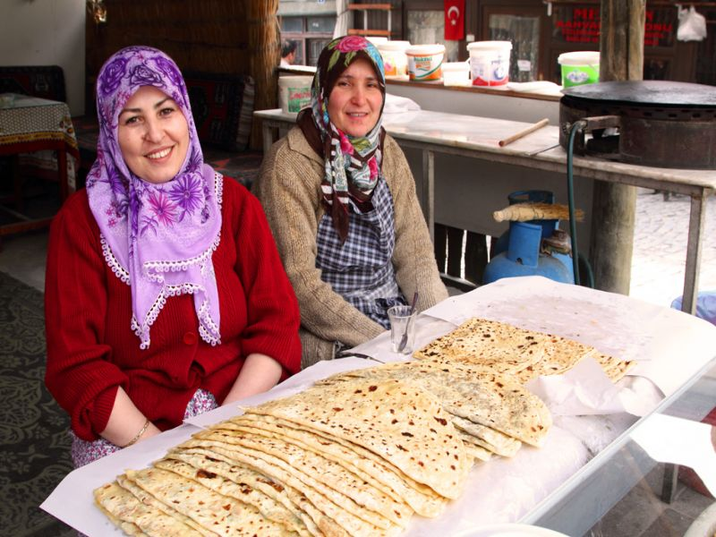 Gozleme is a must-try traditional Turkish food Credit Reflections Enroute