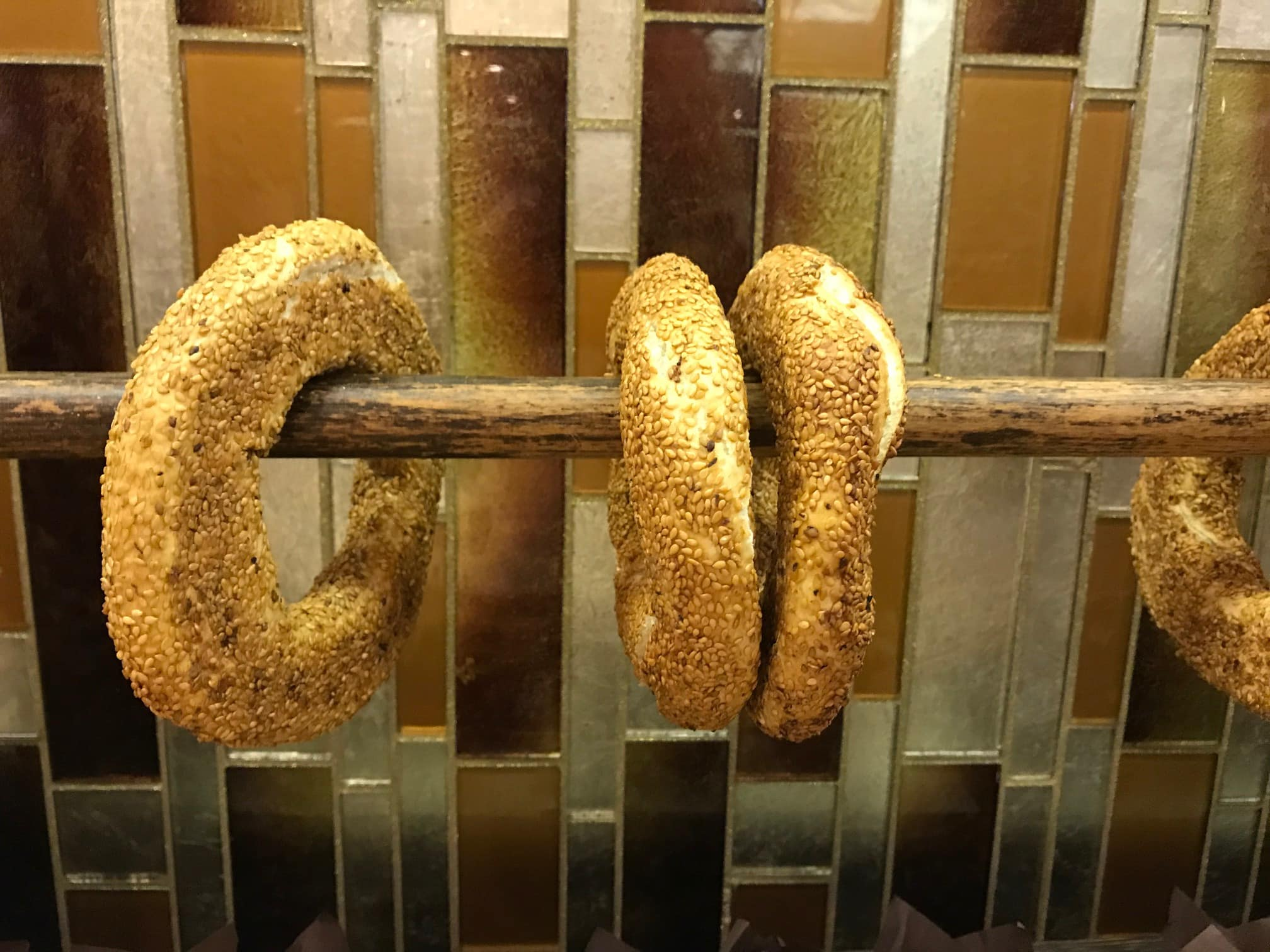 simit is a traditional Turkish food