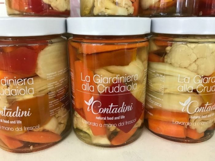 Contadini produces an award-winning line of products such as sun-dried tomatoes, marinated vegetables and oils in a rainbow of colours.