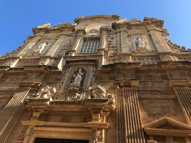 Impressive facade of Saint Agatha's Cathedral dates to 17th century