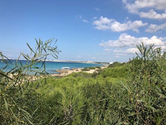 Ionian coastline in Salento Puglia