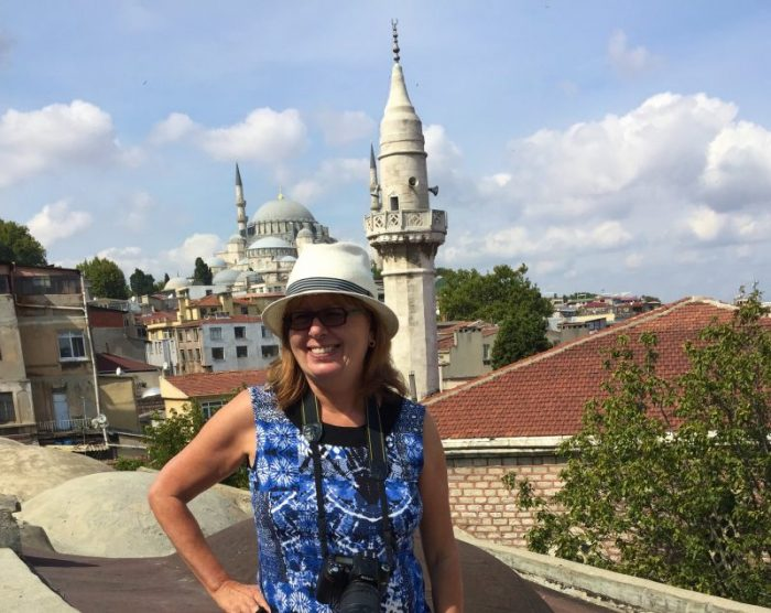 michele peterson on a walking tour with Culinary Backstreets in Istanbul