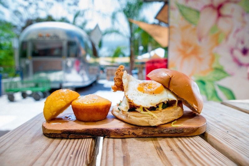 Fried egg on a bun as part of a Puerto Rican breakfast. (Credit: Discover Puerto Rico)