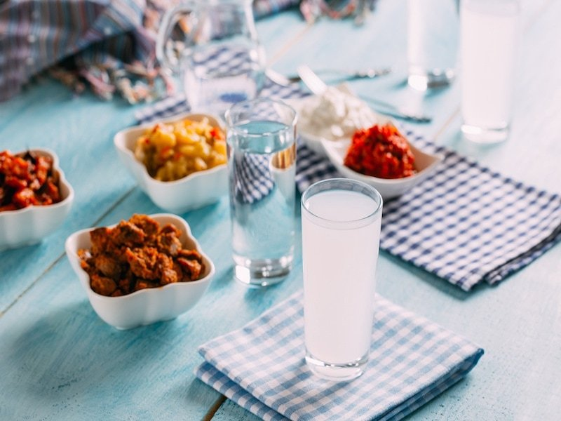 Raki is a traditional Turkish drink credit Tray Tables Away