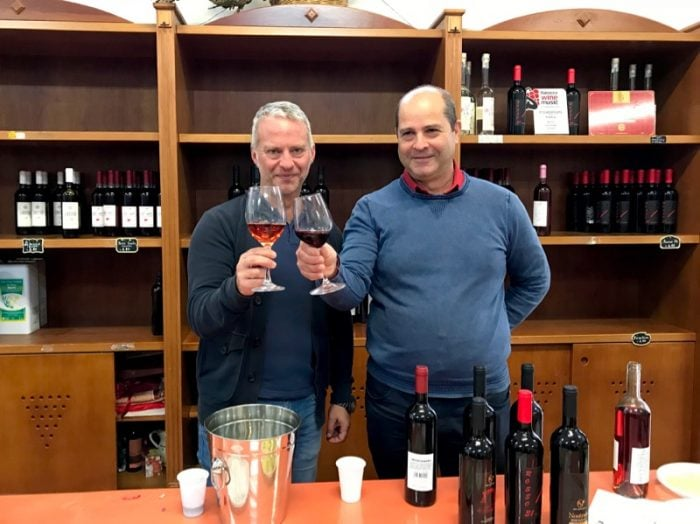 Sample Primitivo and Negromaro wines at Unione Agricola di Melissano