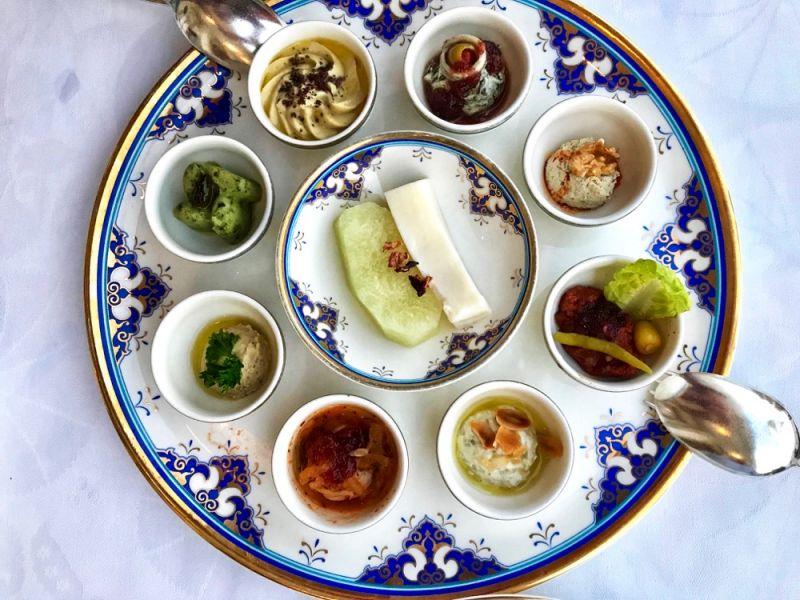 Mezze platter at Tugra Restaurant Ciragan Kempinski Palace