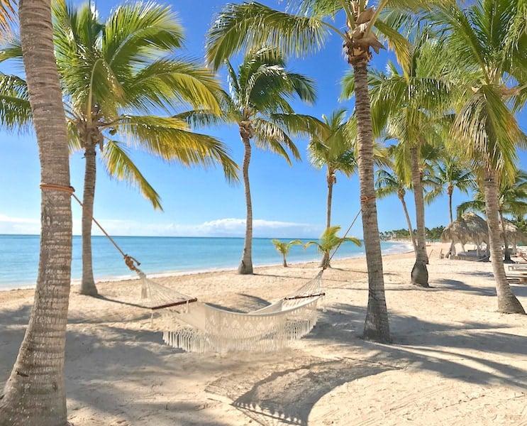 hammock at Secrets Cap Cana on Juanillo Beach