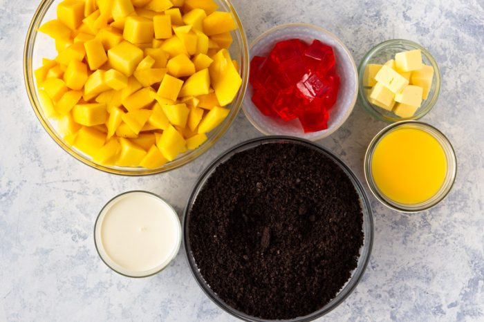 Ingredients for No-Bake Mango Pie