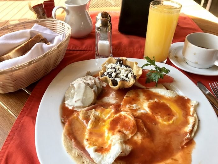Huevos Rancheros Breakfast in Puerto Escondido Mexico
