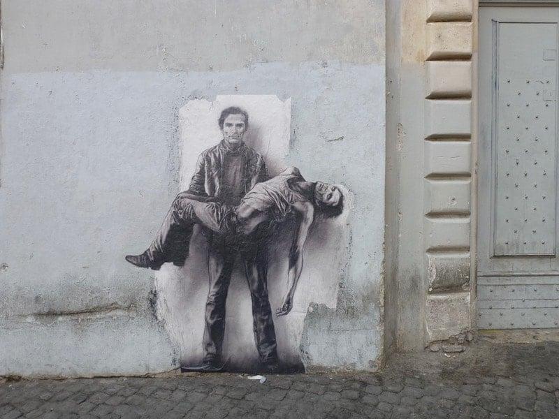 Street art in Trastavere Rome
