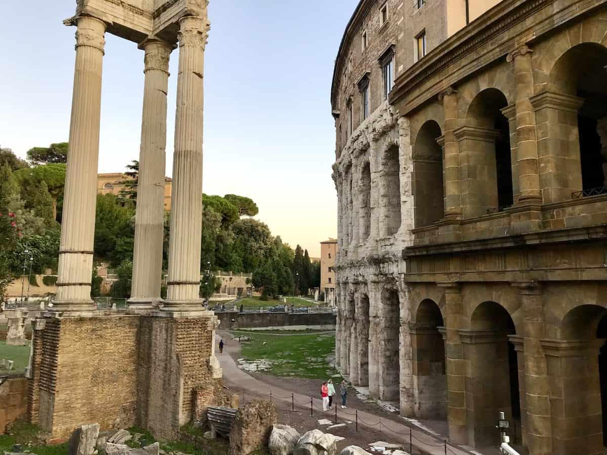 Teatro di Marcello in Rome.