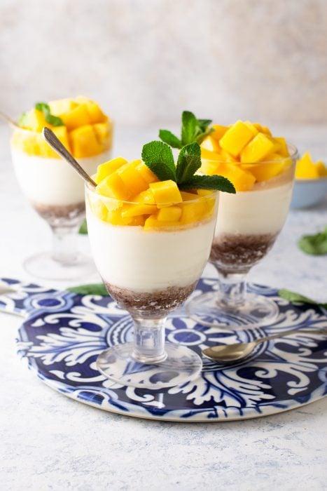 Coconut Mango Panna Cotta