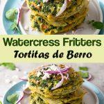 Guatemalan tortitas de berro - watercress fritters