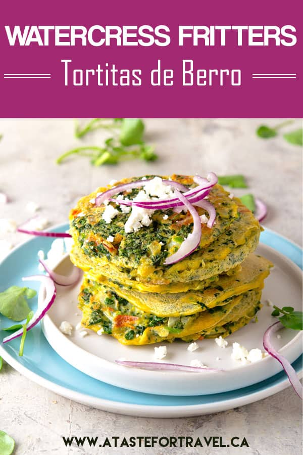 Popular throughout Guatemala and El Salvador, these tortitas de berro con huevo (watercress fritters) are gluten-free and vegetarian. Packed with vitamins, they're like tiny bite-sized omelettes yet easy to whip up for a healthy #breakfast or #brunch #recipe
