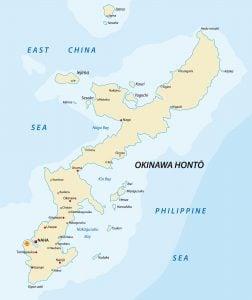 map of Okinawa Japan Credit DepositPhotos