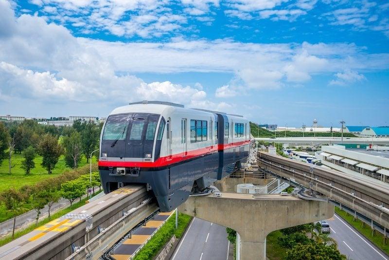 Monorail in Naha Japan Credit Deposit Photos