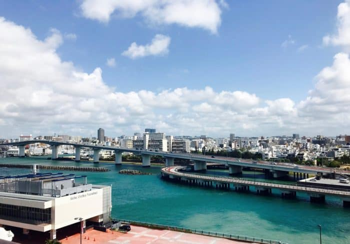 View of the Naha skyline from the Naha Cruise Terminal, Okinawa