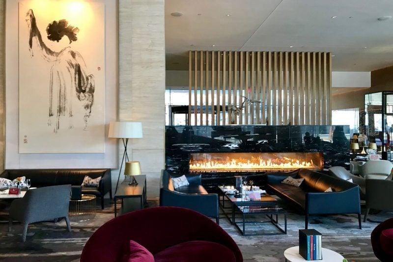 Lobby lounge at the Shangri-La Hotel Toronto
