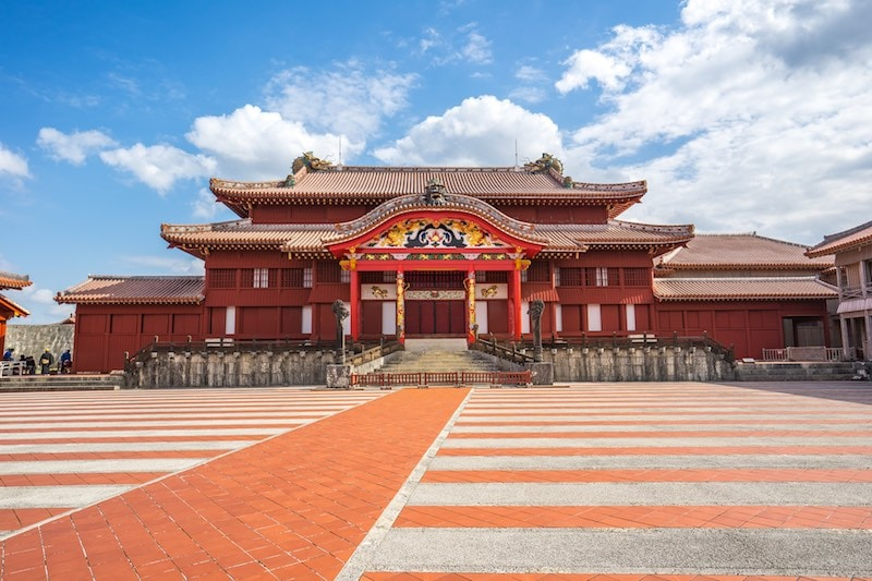 Shuri Castle landmark of Naha, Okinawa, Japan Credit DepositPhotos