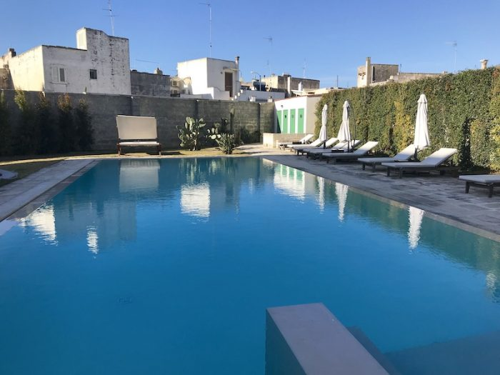 Outdoor swimming pool at Lobby of Palazzo Ducale Venturi in Minervino di Lecce