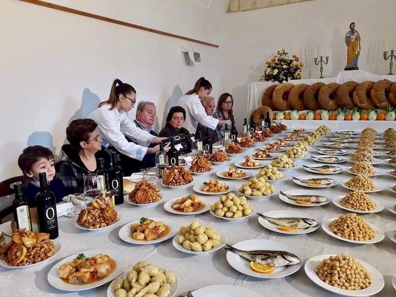 Ceremony for Tavole di San Giuseppe