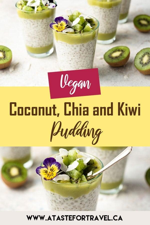 Coconut and Kiwi Chia Pudding