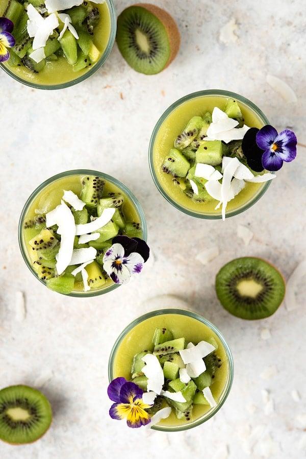 Healthy Kiwi Coconut Milk Chia Pudding