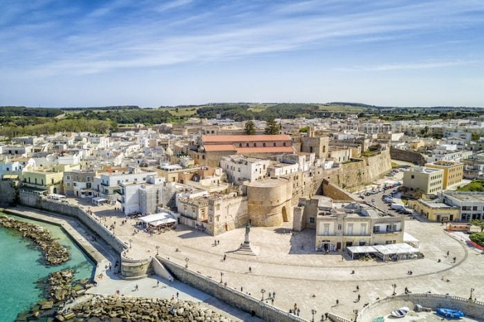 Otranto with Aragonese castle, Apulia, Italy Credit Deposit Photos