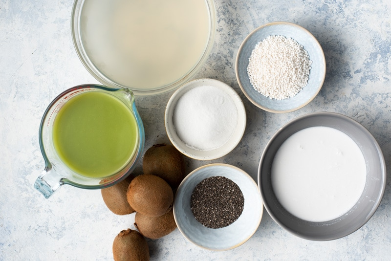 Ingredients for Kiwi Chia Pudding Parfait