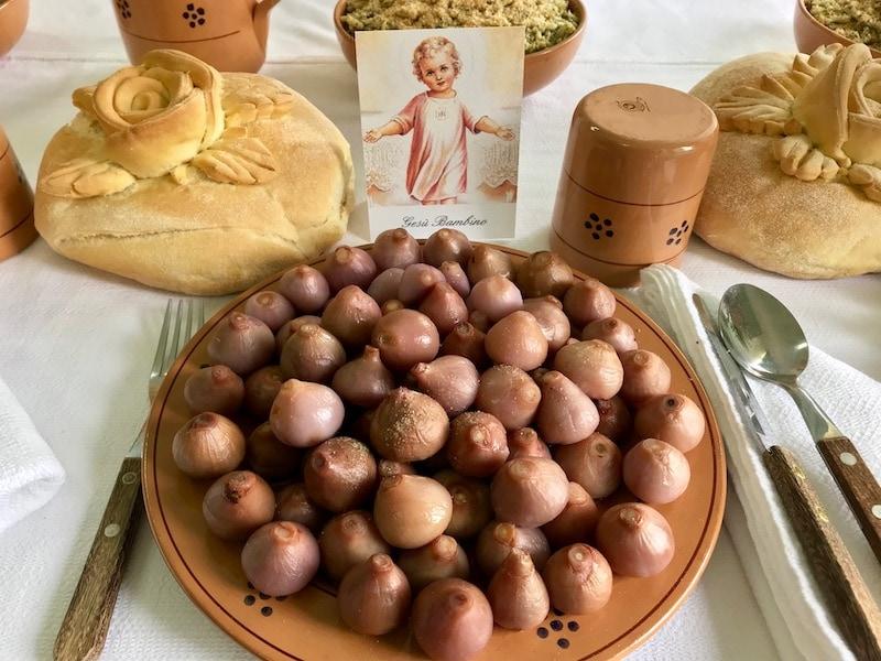 lampascioni or pickled wild onions of Puglia