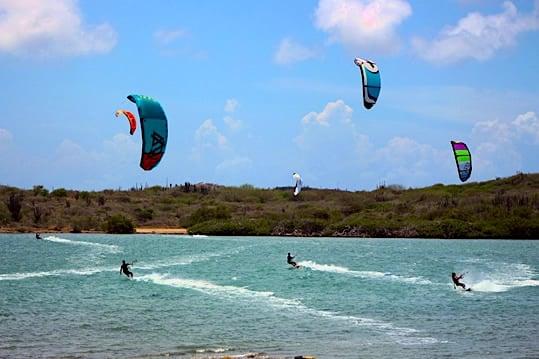 Check out the kite-boarding action on St. Joris Baai Credit: Awa Salu