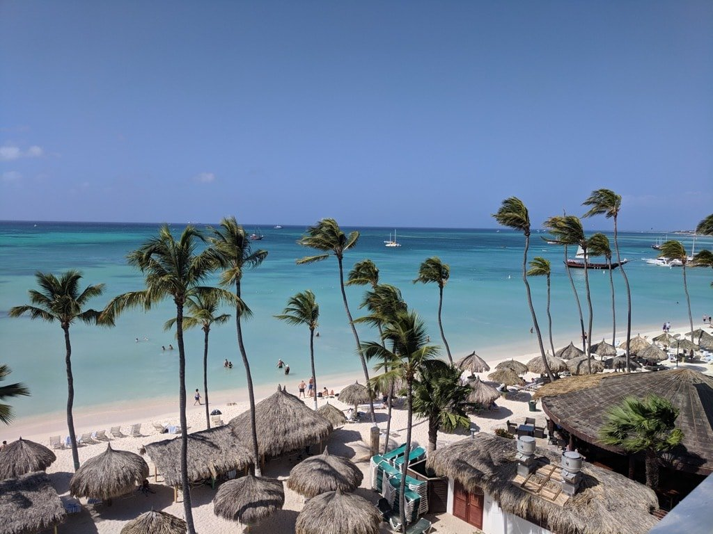 Palm Beach View from Holiday Inn Aruba Credit Sue Campbell