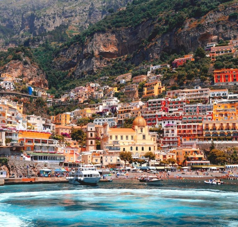 View from the water of Positano jordan-steranka-unsplash