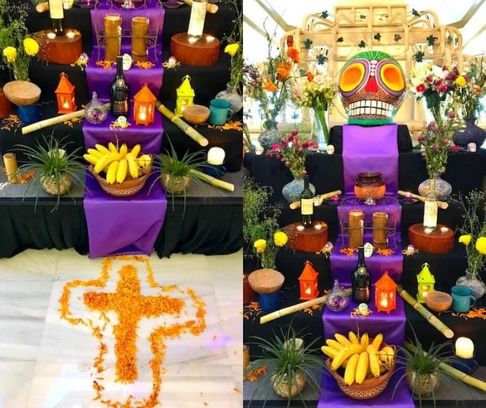 One of the Day of the Dead altars at Fiesta Americana Coral Beach Cancun
