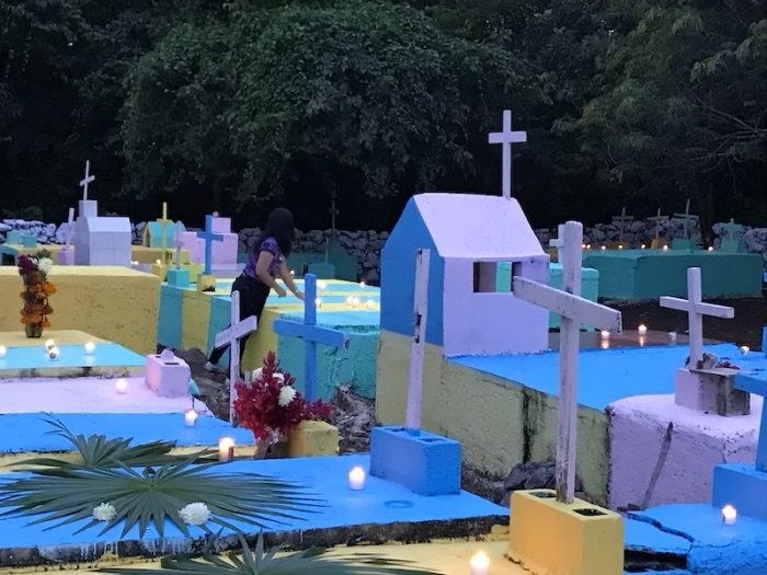 Cemetery on Day of the Dead Tres Reyes Quintana Roo