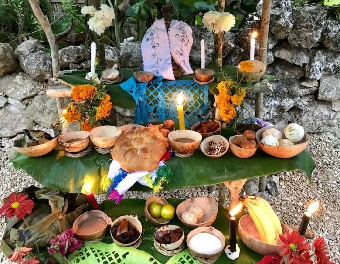 Hanal Pixan altar at Tres Reyes Quintana Roo
