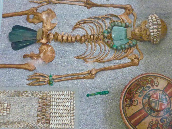 Skeleton at Museo de Cancun