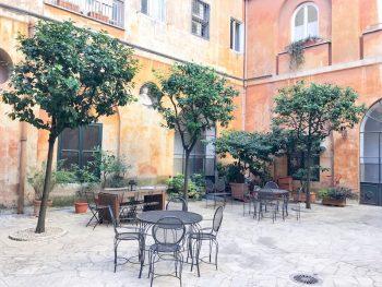 Courtyard at Casa di Santa Francesca Romana a Ponte Rotto Convent Stay in Rome
