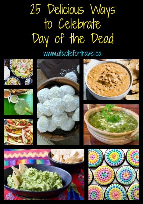 a collection of day of the dead food recipes