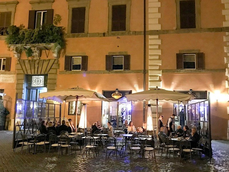 Dining in Jewish Quarter of Rome